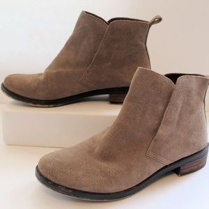 Lucky Brand Suede Leather Pull-on Bootie Size 7.5